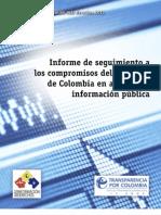 Informe de seguimiento de compromisos del Gobierno de Colombia en acceso a la información pública