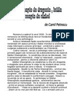 Camil Petrescu - Ultima Noapte de Dragoste Intaia Noapte de Razboi - Www.e-referat.net