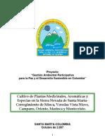 Cultivo de Plantas Aromaticas, Medicinales y Especias-santa Marta-colombia