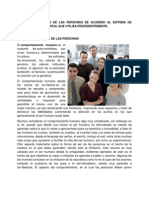 EL COMPORTAMIENTO DE LAS PERSONAS DE ACUERDO AL SISTEMA DE REPRESENTACIÓN MENTAL QUE UTILIZA PREFERENTEMENTE