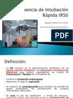 Secuencia de Intubación Rápida (RSI)