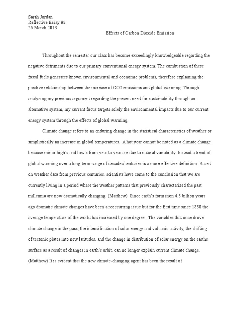Climate Change Essays Writings - Essay about climate change