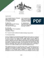 "L.A. Councilman Buscaino April 30 letter urging ""mediation"" re BNSF-sought SCIG railyard"