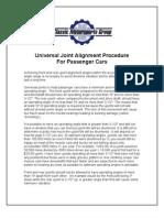 Universal Joint Alignment Proc 111606