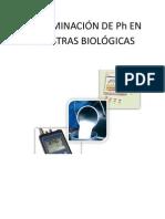 Determinación Ph muestras biológicas