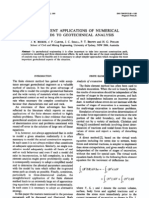 Some Recent Applications of Numerical Methods to Geotechnical Analysis