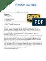 Comidas Tipicas de Guatemala Por Departamento