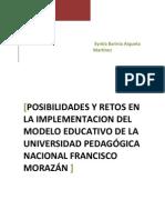 Ensayo Modelo Educativo Upnfm