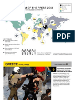 Freedom of the Press 2013 - Infographic