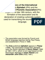 Brief History of the IPA