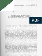 El comportamiento del jaguar y la organización socio-espacial humana - Dillehay y Kaulicke ocr