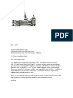 Special Counsel Request Letter to the Iowa Supreme Court