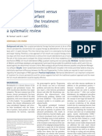 Full-Mouth Treatment Versus Quadrant Root Surface Debridement in the Treatment of Chronic Periodontitis