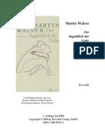 Walser, Martin - Der Augenblick Der Liebe