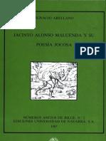 Jacinto Alonso Maluenda y Su Poesia Jocosa 1987