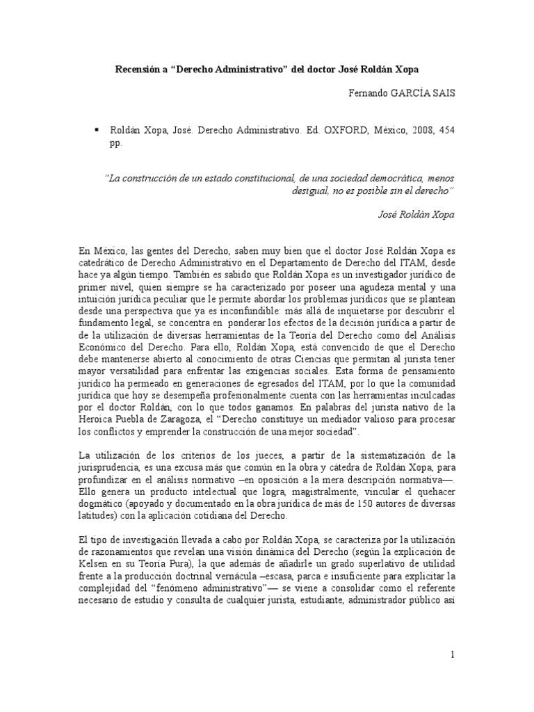 derecho administrativo jose roldan xopa pdf gratis