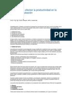 Factores que afectan la productividad en la planta de incubación