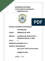 Modulo- Elaboracion de La Tesis -Univ. San Pedro
