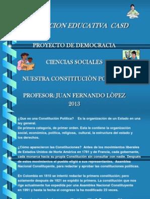 Diapositivas Constitucion Politica De Colombia Colombia