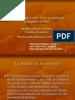 20100421-El Registro de Estado Civil y La Actividad Jurisdiccional