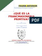 QUÉ ES LA FRANCMASONERIA PRIMTIVA