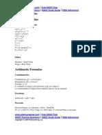 GMAT Math Formulas