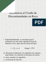 Resistencia Al Cizalle de Discontinuidades en Roca