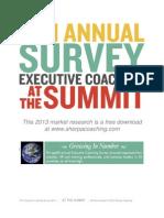2013 Executive Coaching Survey