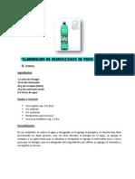 Elaboracion de Desinfectante de Pisos y Sanitarios