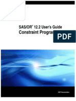 SAS OR Constrained Programming
