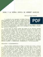 Hegel Y La Teoría Crítica de Herbert Marcuse.