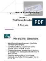 Wind Tunnel Correction