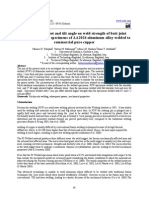 Effect of Tool Offset and Tilt Angle on Weld Strength of Butt Joint Friction Stir Welded Specimens of AA2024 Aluminum Alloy Welded to Commercial Pure Cupper