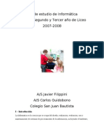 Computación Plan de estudio 2007-2008