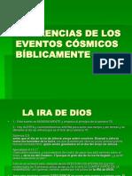Diferencias de Los Eventos Cosmicos Biblicamente