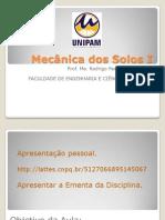 01 - Introdução Mecânica dos solos - Ementa 2013