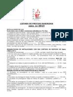 AGASA abril 2013 Listado de precios sugeridos.pdf
