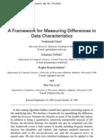 Framework for Measuring Differences in Data Chars--ganti Et.al. (2002)--PUB