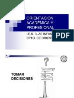Dpto. Orientación (charla sobre salidas académicas)