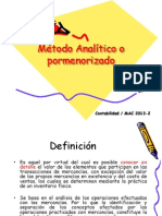 4.1 Metodo Analitico o Pormenorizado
