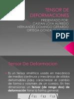 Tensor de Deformaciones
