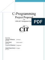 Project Proposal on C-programming {Library Management System