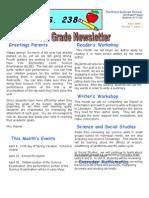 4th Grade April Newsletter 2009