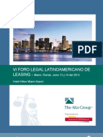 VI Foro Legal Brochure y Operativo
