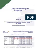 Efectos Crisis Economía Colombiana