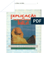 Explicação de textos difíceis da Bíblia- Pedro Apolinário
