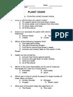 Plant Exam