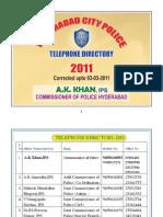 Telephone Directory 2011 of hyderabad