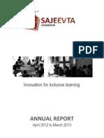 Sajeevta Annual Report_30Apr2013
