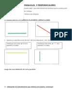 Rectas Paralelas y Perpendiculares Guia de Actividades.